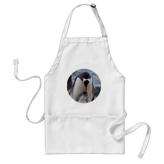 Mama and Baby Penguin Standard Apron