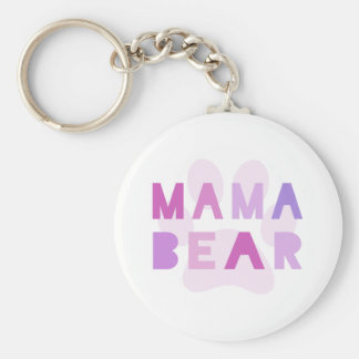 Mama bear basic round button key ring