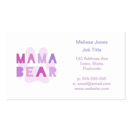 Mama bear business card