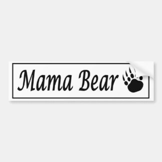 Mama Bear car sticker decal with bear claw