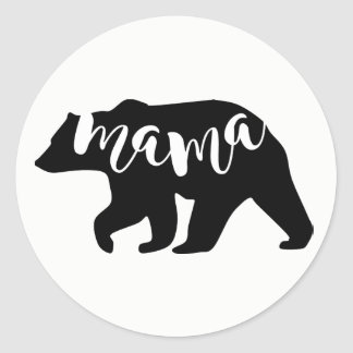Mama Bear Classic Round Sticker