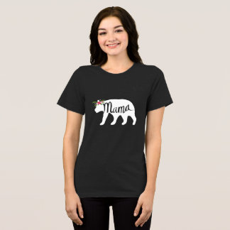 Mama Bear Flower Crown T Shirt - White Bear