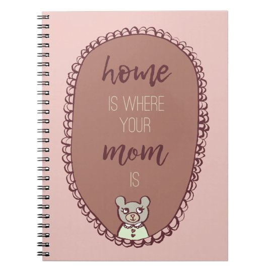 """Mama Bear Illustration """"home is where your mum"""