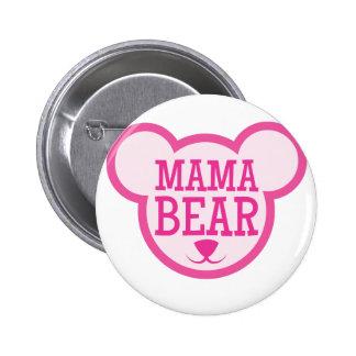 mama bear in teddy head 6 cm round badge