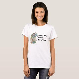 Mama Bear Loves New York - Vintage Map T-shirt