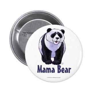 Mama Bear Panda Bear Button