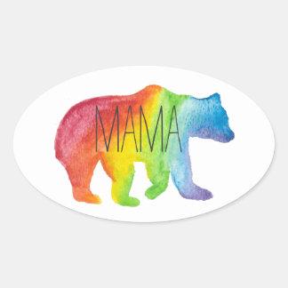 Mama Bear Watercolor Family Pride Sticker