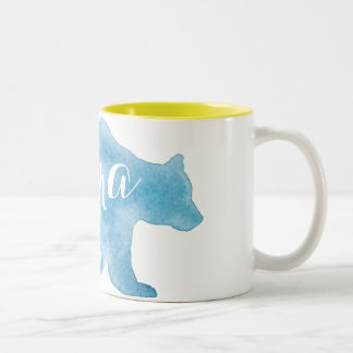 Mama Bear Watercolor Two Tone Mug