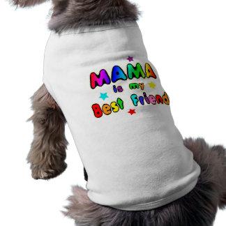 Mama Best Friend Sleeveless Dog Shirt