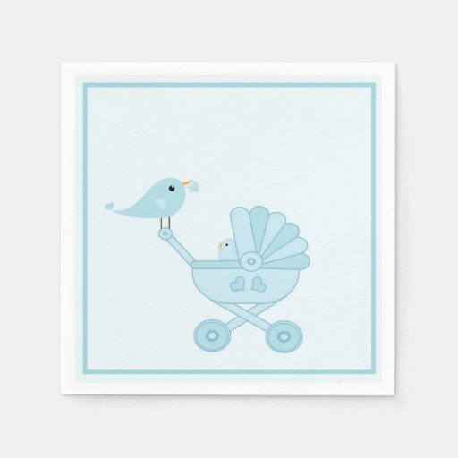 Mama Bird Baby Shower Party Paper Napkins Disposable Napkin