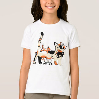 Mama cat with kittens funny picture. T-Shirt