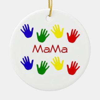 MaMa Round Ceramic Decoration