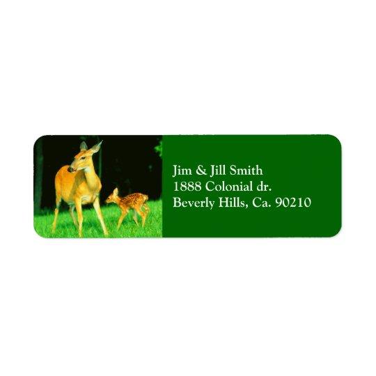 Mama Deer & Baby Fawn Return Address Label