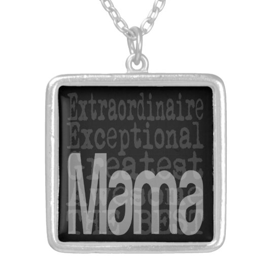 Mama Extraordinaire Silver Plated Necklace