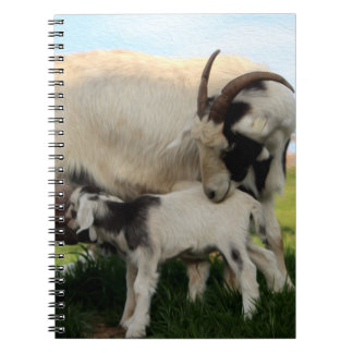 Mama Goat & Nursing Kid Spiral Notebook