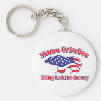 Mama Grizzlies Basic Round Button Key Ring