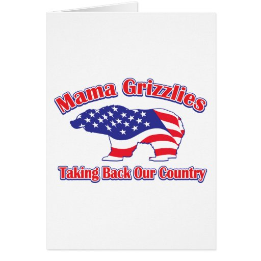 Mama Grizzlies Greeting Cards