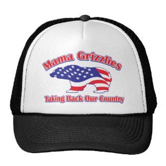 Mama Grizzlies Taking Back Our Country Hats