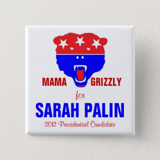 MAMA GRIZZLY 15 CM SQUARE BADGE