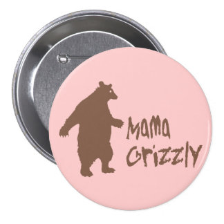 Mama Grizzly 7.5 Cm Round Badge