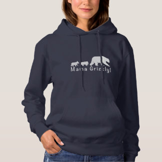 Mama Grizzly Bear and Cubs Hoodie