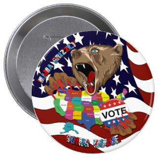 Mama-Grizzly-Button-1 10 Cm Round Badge