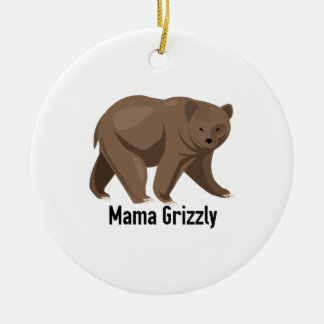 Mama Grizzly Christmas Tree Ornaments