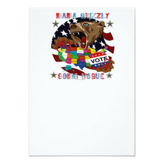"""Mama-Grizzly-Going-Rogue-1 5"""" X 7"""" Invitation Card"""