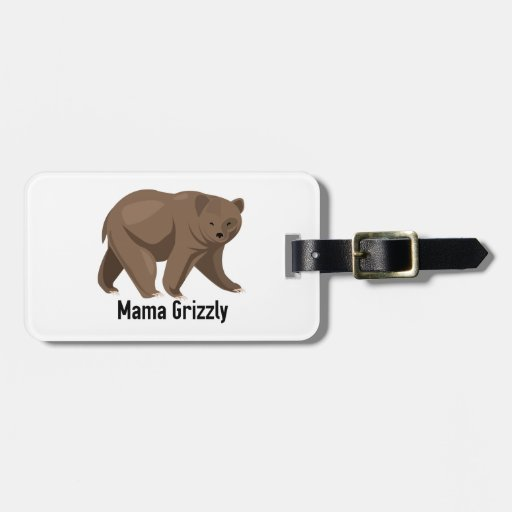 Mama Grizzly Tag For Bags