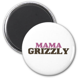 Mama Grizzly 6 Cm Round Magnet