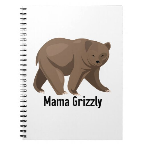 Mama Grizzly Spiral Notebooks