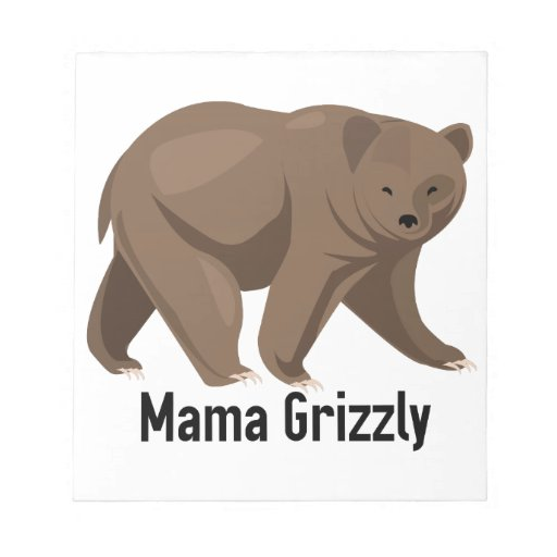Mama Grizzly Memo Notepad