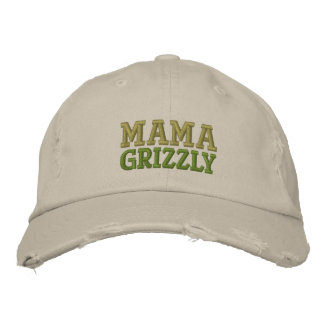 Mama Grizzly - PALIN 2012 Embroidered Baseball Cap