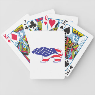 Mama Grizzly Patriotic Grizzly Bicycle Playing Cards