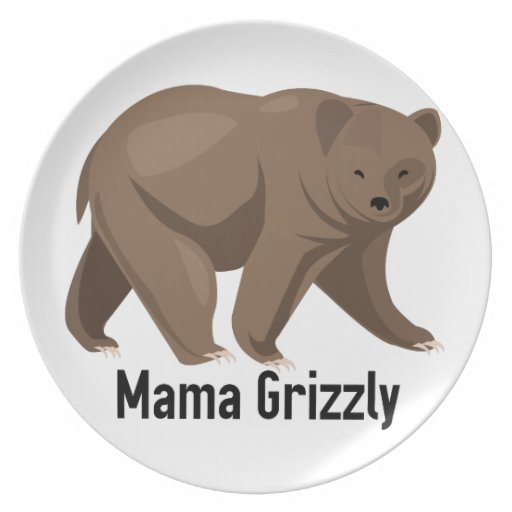 Mama Grizzly Party Plate