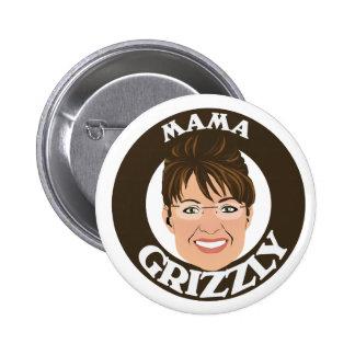 Mama Grizzly Sarah Palin 6 Cm Round Badge