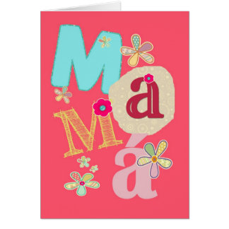 mamá, happy mother's day in Spanish Card