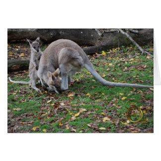 Mama Kangaroo and Joey Card
