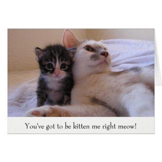 Mama & Kitten Card
