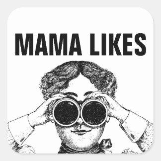 Mama Likes Square Sticker