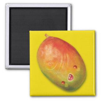mama loves mango square magnet