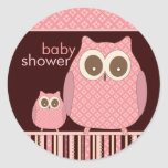 Mama Owl & Baby Owl in Pink and Brown