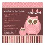 Mama Owl & Baby Owl PInk Baby Shower Invitation