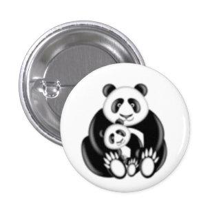 Mama Panda Bear and Baby 3 Cm Round Badge