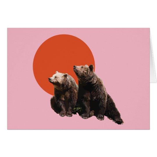 Mama & Papa Bear Greetings Card