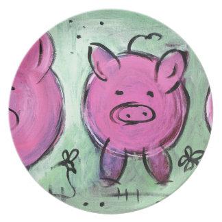 mama pig plate