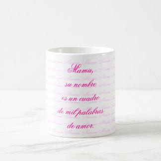 Mama, su nombre es un cuadro de mil palabras de am coffee mug