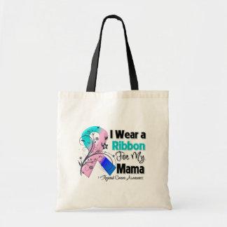 Mama - Thyroid Cancer Ribbon Budget Tote Bag