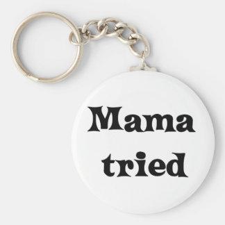 Mama tried basic round button key ring