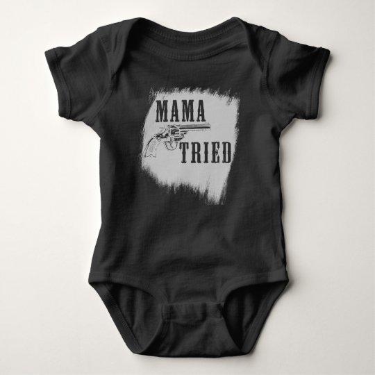 Mama Tried Merle Haggard country DARK bodysuit